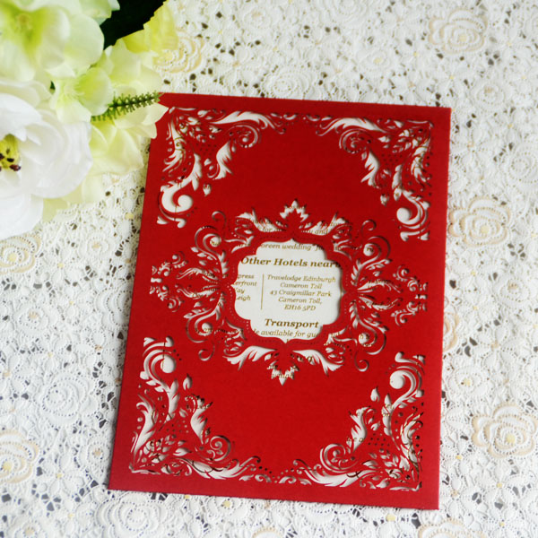 High quality paper folding cards hand make pocket invitations red high quality paper folding cards hand make pocket invitations red color wedding party greeting cards m4hsunfo
