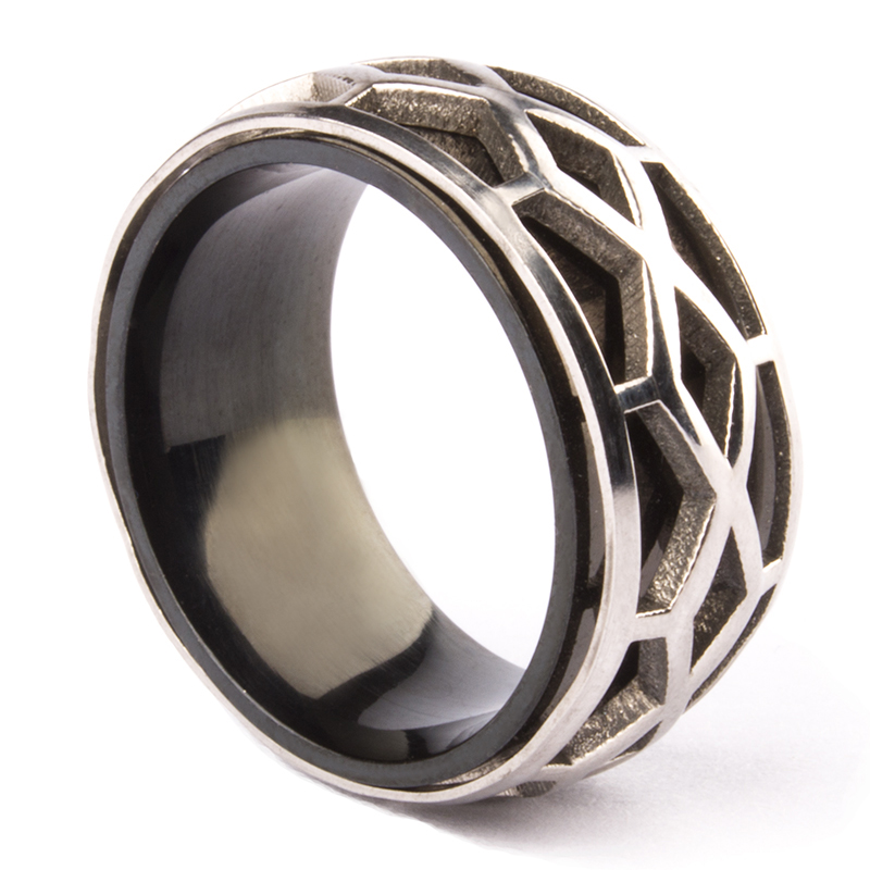 Nice Free Shipping Wedding Rings Cool Punk Stainless Steel Cobweb Titanium Ring Personalized All-match Thumb Women Men Jewelry