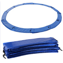 366cm/305cm Outdoor Indoor Trampoline Spring Pad Protective Cover Spring Bounce Bed Bungy Fitness Equipments Blue