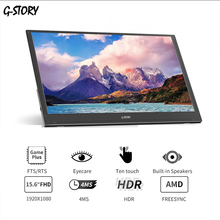 G-STORY 15.6 Inch Ultrathin Touchscreen FHD 1080P VA Panel Portable Monitor Built-In Speakers For Laptop,Xbox,Switch And Ps4