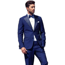 slim fit font b mens b font font b suits b font blue wedding tuxedos two