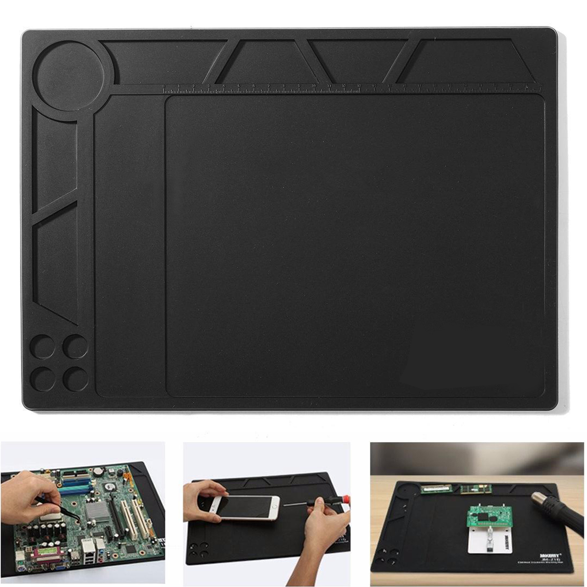 где купить 1pc ESD Heat Insulation Pad Anti Static Soldering Mat Blanket 359*260*5mm For Phone PC Tablet Repair дешево