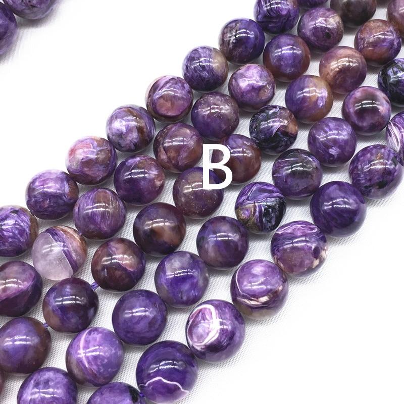 10MM Dark Color Charoite Beads Russia Grade AB Genuine Natural Round Gemstone Loose Beads 37  19 Pcs 108968