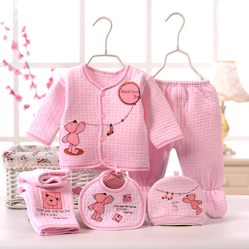 5pcs! 2017 high quality Warm Underwear baby sets new born baby boy clothes and girl clothing winter infant set for NB 0-3M 2pcs set baby clothes set boy