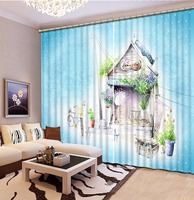 Customize 3d Curtains For Bedroom Photo Fairy Lake Face Mountain Fairyland 3d Stereoscopic Pattern Blackout Curtains