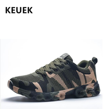 Men Casual shoes Light Breathable Lace-Up Sneakers Flyknit Camouflage Adult Training shoes Male Flats 02A цена