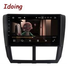Idoing 1Din 9 «автомобильное радио GPS; Мультимедийный проигрыватель Android8.0/7.1для Subaru Forester 2008-2012 4 г + 64 г Восьмиядерный навигация быстрая загрузка