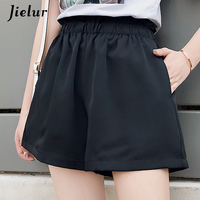 Jielur Shorts Korean Street-Basic Female High-Waist Femme Summer Women Loose for Apricot