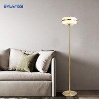 Modern Floor Lamp LED Copper Standing lamp for Living Room dinning room Bedroom Bedside Lamp lampadaire abajur Light Fixtures