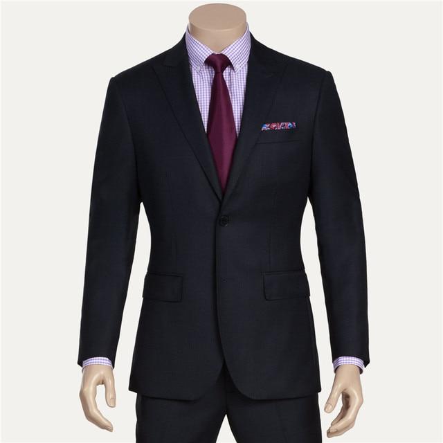 € 81 09  (Jacket+tie+Pants) 2015 New Arrival Brand Business Suit Slim Fit  Suits 3 Piece Blazer Wedding dress blazer man black suit dans Costumes de
