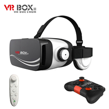 VR BUCINUM VR BOX 4 VR Glasses 3D VR Headset with Earphones Support 4.7-6.0″ Smartphones for Samsung S8 + Bluetooth Gamepad