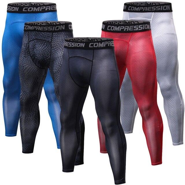 e4b964a0c54 3D Crossfit pantalones medias de compresión de los hombres camisetas de Fitness  Skinny Leggings de secado