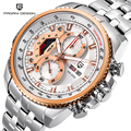 Relogio Masculino 2016 Motor Sport Fashion Top Brand Men Quartz Watch Waterproof Multifunction Stainless Steel Military Watches
