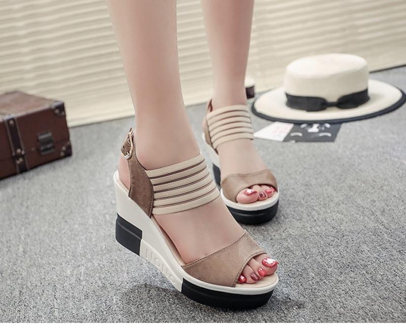 Zapatos H6 Mujer Abiertos Sandalias Vtota Tacones Verano Con Dedos De Altos Cuñas Roma 2018 Plataforma Yb7gyf6
