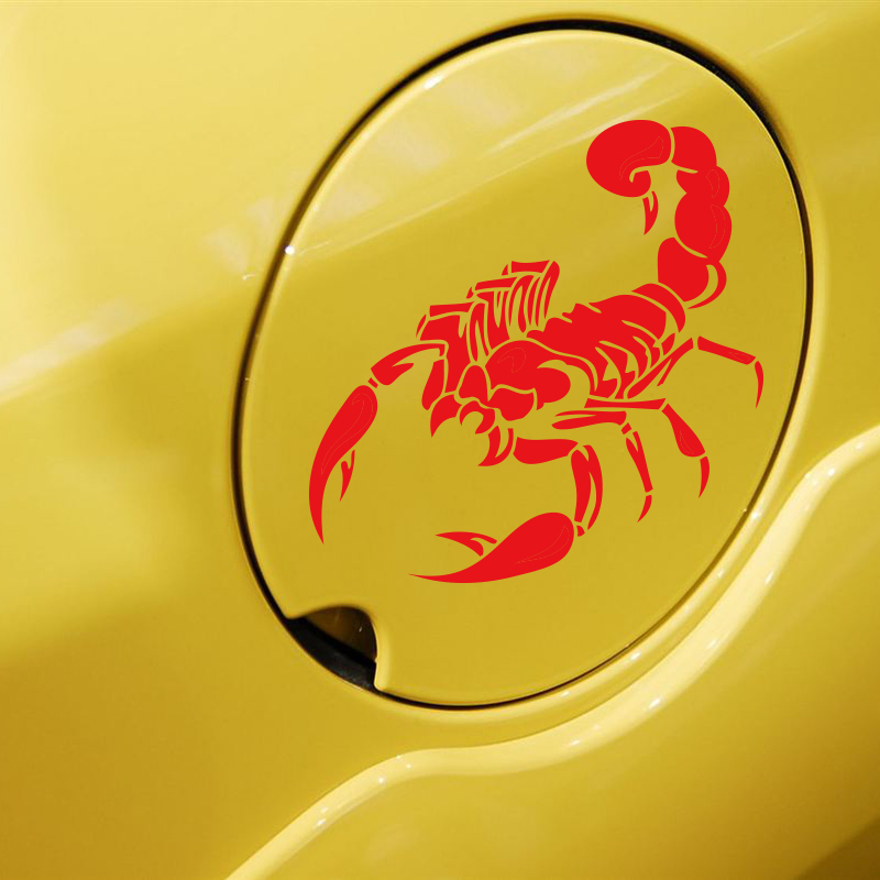Прохладный Скорпион шаблон дизайна автомобиля наклейка топливного бака декор крышка,светоотражающие наклейки и виниловые наклейки,наклейки мультфильм животных