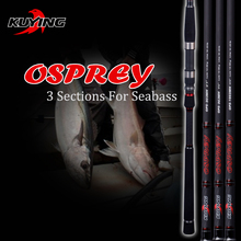 KUYING O-SPREY 3 Sections 2.7m 2.9m 3m Lure MH Hard Carbon Spinning Fishing Rod Pole FUJI Parts Seabass Bass Medium Fast