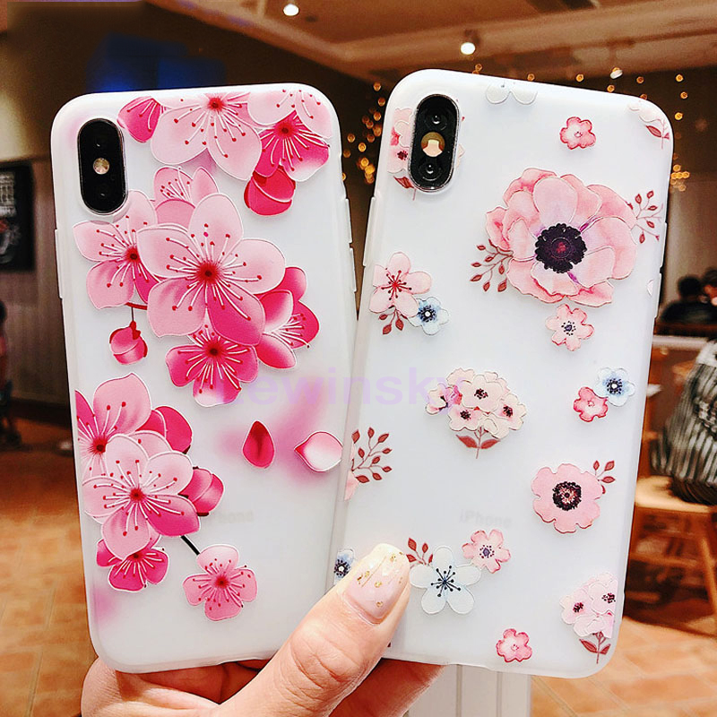 3D Flower  silicone Phone Case for Xiaomi Redmi 1