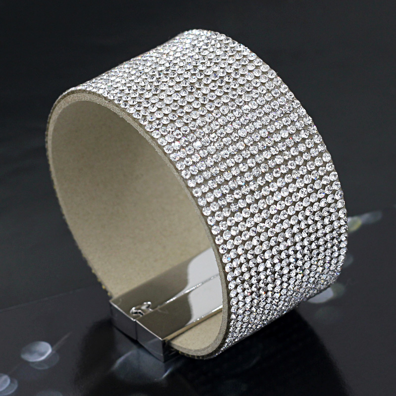 VONNOR Smykker Armbånd for kvinner Sparkling Rhinestone Inlaid Soft Wrap Bangles Armbånd Fashion Female Accessories