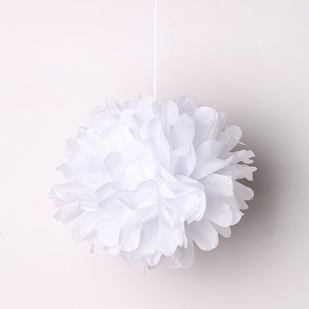Aliexpress Buy 6 Pack 12inch Tissue Paper Flowers Crafts White