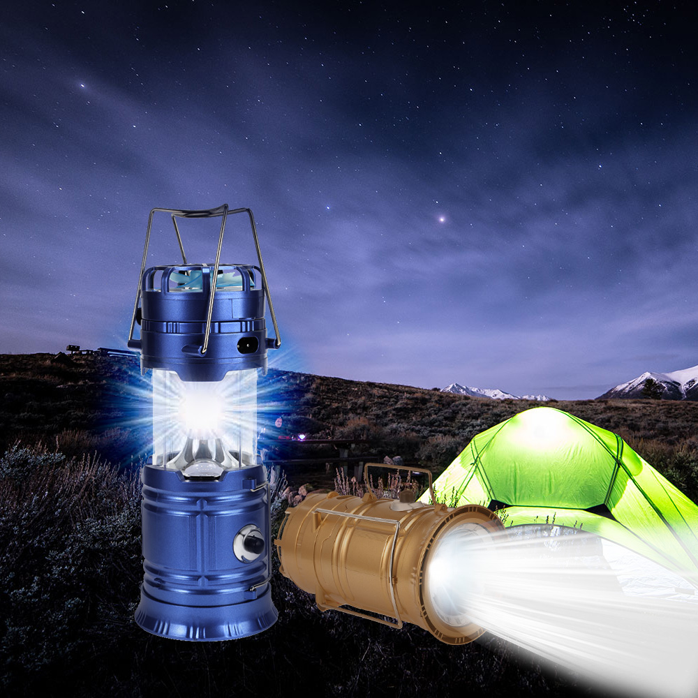 Lightme Premium Solar Powered Collapsible LED Camping Lantern With Fan For Camping Hikin ...