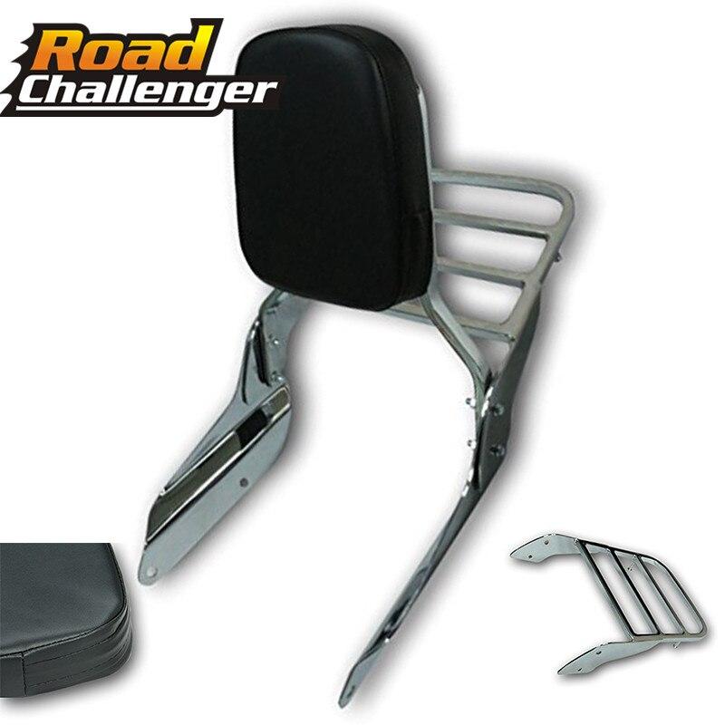 Backrest Sissy Bar Luggage Rack Rear Passenger Cushion Pad Kit For Honda VF 750 VF 250 For Magna 1994-2003 VF750 VF250