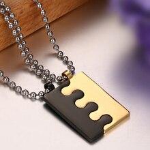 Lock Couple Necklace & Pendants For Men / Women Stainless Steel
