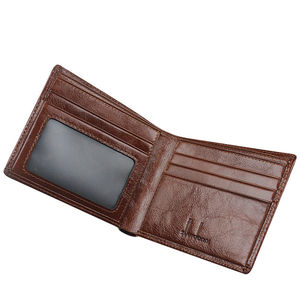 Image 4 - Short Wallets Men Ultra Thin Wallet Genuine Leather Purse Vintage Solid Purses Mens Slim Card Bags High Quality Free Shipping