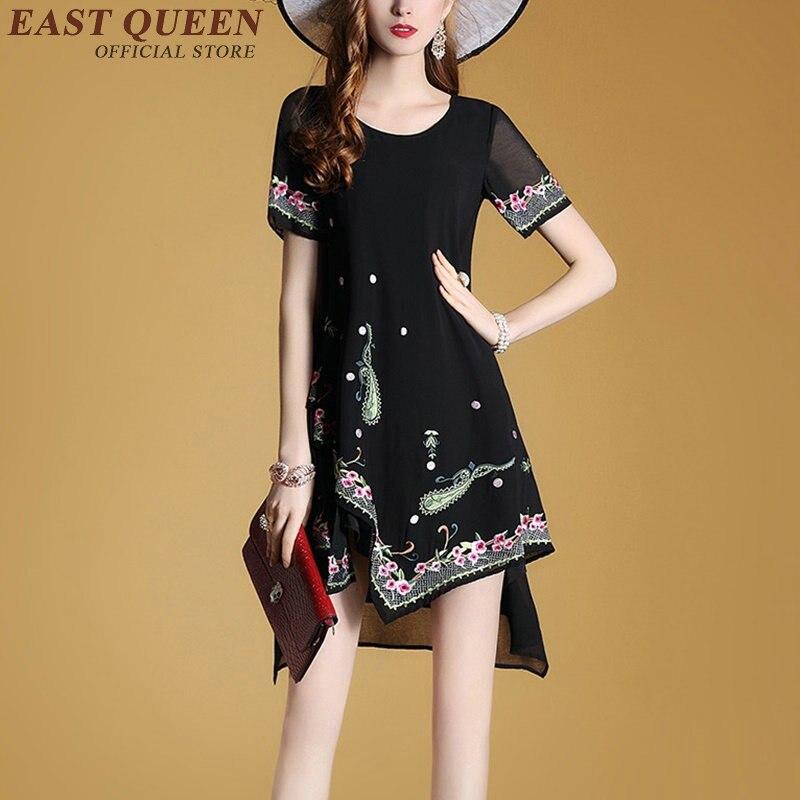 vestido nueva ropa hippie boho hippie mujeres estilo vestidos de verano vestido bordado mexicano boho chic kk y