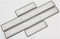 Car Accessories Stainless Steel Side Door Scuff Plate Door Sill Trim Fit For Ford Kuga Escape