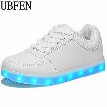 2017 световой неоновый свет обувь взрослых женщин обувь на плоской подошве светящиеся зарядка через USB свет Chaussure lumineuse Basket женская обувь
