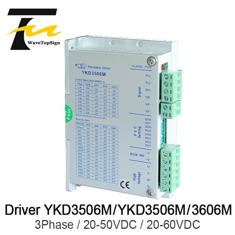 Free Shipping YAKO 3Phase Stepper Driver YKD3506M and YKD3606M Current 5.5A 5.9A Match with 3Phase Step Motor 42~86 SerialFree Shipping YAKO 3Phase Stepper Driver YKD3506M and YKD3606M Current 5.5A 5.9A Match with 3Phase Step Motor 42~86 Serial