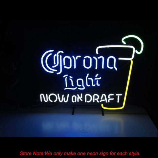 New corona light on draft pint glass beer neon sight real glass beer new corona light on draft pint glass beer neon sight real glass beer commercial store handcraft aloadofball Choice Image
