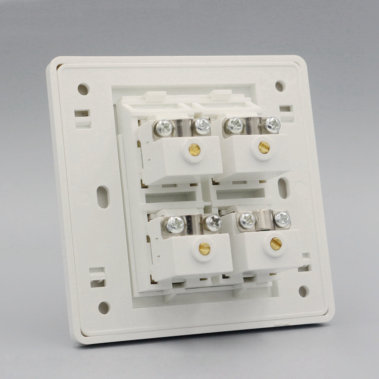 Wall Plate Socket Four Ports TV Outlet CATV Socket Connector Panel Faceplate Home Plug wall face plate rca av audio tv jack outlet socket assorted panel faceplate