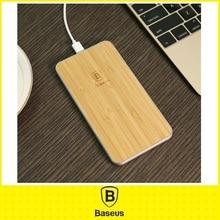 Оригинал Baseus ЦИ БЕСПРОВОДНОЕ Зарядное Устройство для Samsung/LG/HTC/HUAWEI Беспроводной Зарядки Алюминия с Дерева Ultra Slim быстрое Зарядное Устройство