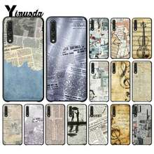 Yinuoda Great Art book Old newspaper sheet music Phone Case for Huawei P9 P10 Plus Mate9 10 Mate10 Lite P20 Pro Honor10 View10(China)