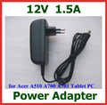 5pcs 12V 1.5A 18W Tablet Battery Charger EU US Plug for Acer Iconia Tab A510 A700 A701 Tablet PC Power Supply Adapter