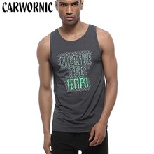 CARWORNIC Mens Sleeveless Vest Summer Male Gyms Clothing Quick Dry Breathable Bodybuilding Undershirt Workout Fitness Tank Tops