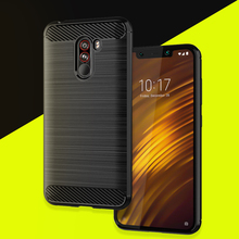 Pocophone f1 case tpufitted cover  For xiaomi POCO F1 back cover pocophone protective phone case POCOPONE F1 case poco f1 stoff compatible 400 0184 00 com projection design f12 wuxga projector lamp for projection design f1 sx e f1 wide f1 sx ect