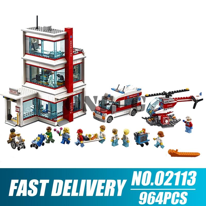 بناء كتل 02113 964 قطعة متوافق مع مدينة 60204 الطوب مدينة المستشفى أرقام التعليمية لعب للأطفال-في حواجز من الألعاب والهوايات على  مجموعة 1