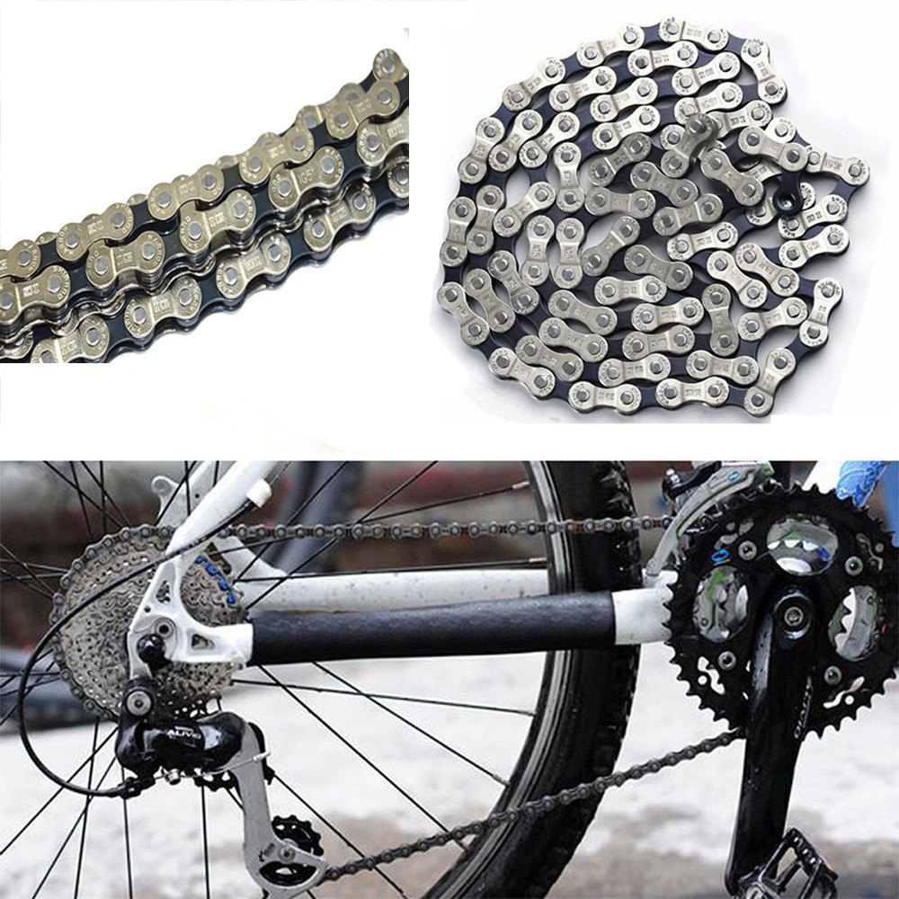 Anti-rust Silver Electroplated 116 Links 6-7-8/9/10 Speed MTB Mountain Road Bike Chain Bicycle Parts #0606