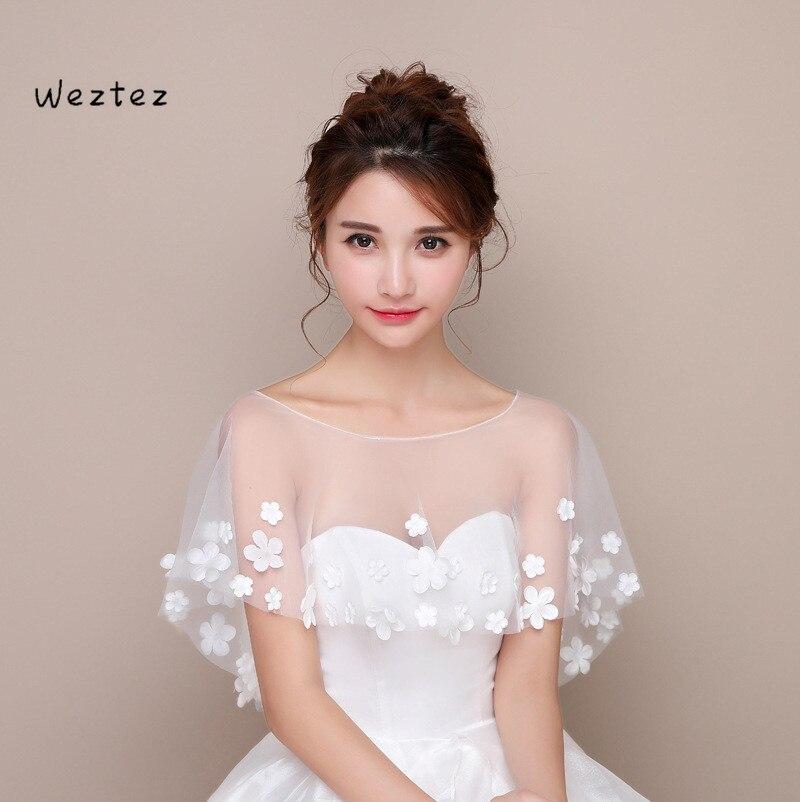 Thin Section Shoulder Yarn Wedding Shawl Petal Wedding Dress Tulle Cape Cloak Wedding Accessories PJ23