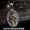 Good Vibrations genuine Madonna Maria 925 Sterling Silver Pendant Silver retro female man