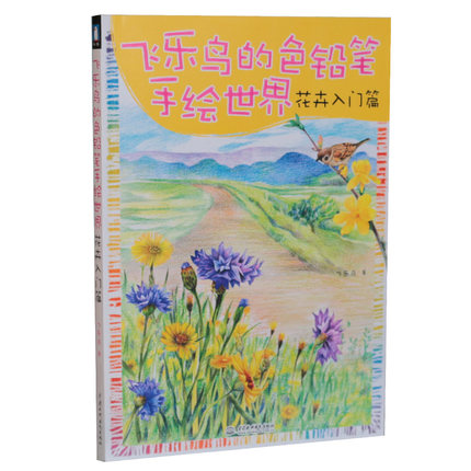 128 Page Chinese Color Pen Flower Entry Paintings Drawing Book / Color Pencil Drawing Basic Introduction To Hand Painted Books