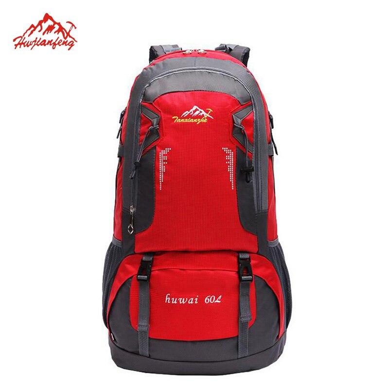 ФОТО 60L Outdoor Sport Travel Backpacks Men Lover's Climbing Knapsack mochila Mountain Hiking Bag Camping Backpack Trekking Rucksack