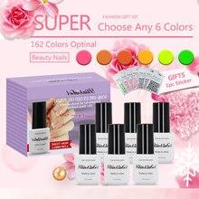 BlinkinGel 6ml Nail Gel Nail Polish Set 6 pcs Multi Nail Color Gel Nails Gel UV Colors 6ml in UV Curable Polyurethane Resin the sampar sampar 6ml