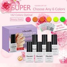 BlinkinGel 6ml Nail Gel Polish Set 6 pcs Multi Color Nails UV Colors in Curable Polyurethane Resin