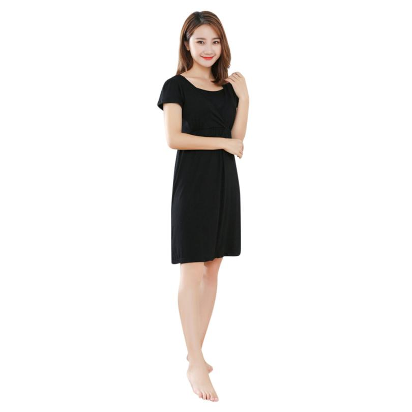 BMF TELOTUNY Fashion Cotton Womens Mother Pregnants Casual Nursing Baby For Maternity Solid Dress Mar23 Drop Ship