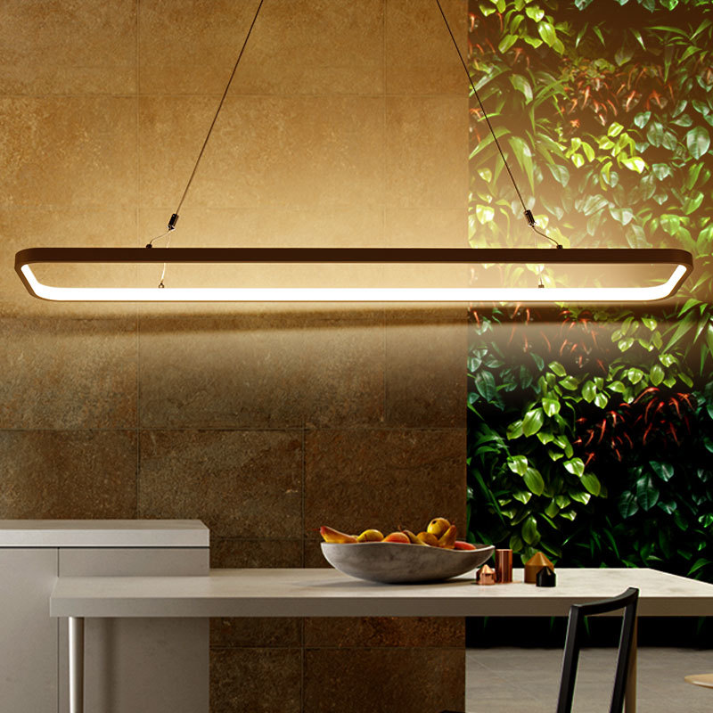 New creative modern led pendant lights kitchen acrylic for Suspension metal cuisine