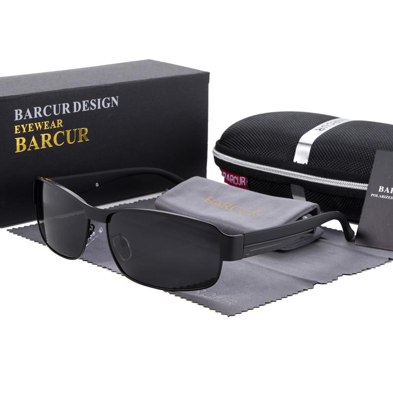 b8d97ef28d8 BARCUR Fashion Driving Sun Glasses for Men Polarized sunglasses UV400  Protection Brand Design Eyewear High Quality
