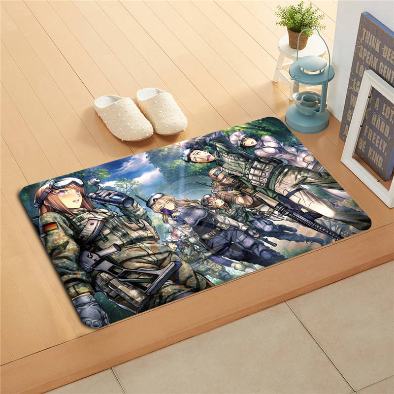F627m27 Custom Makise Kurisu Steins Gate Anime Doormat Art Design Pattern Printed Floor Hall Bedroom Cool Pad Fashion Rug #18
